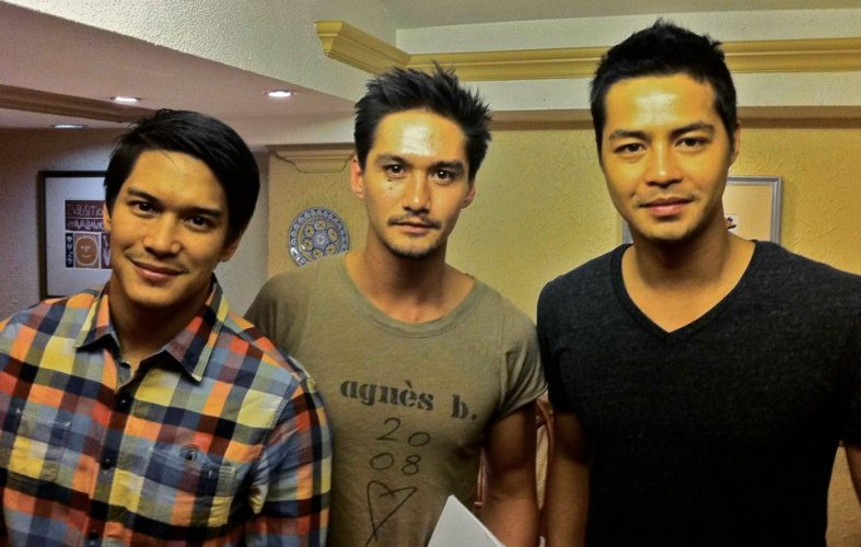 Kalayaan actors from left to right: Luis Alandy, Ananda Everingham, Zanjoe Marudo