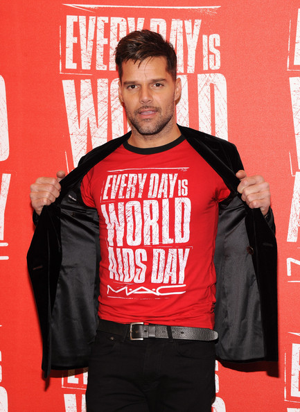 Ricky Martin as MAC Viva Glam's ambassador