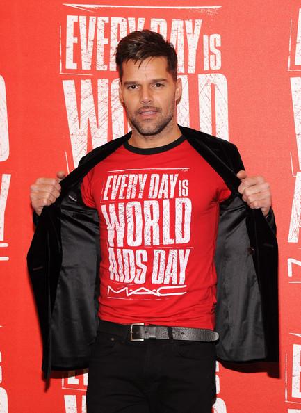 Ricky Martin as MAC Viva Glam's ambassador