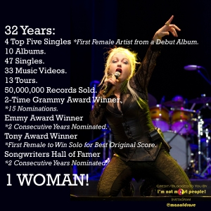Cyndi Lauper 32 Years